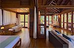 Dominica, St John Parish, Portsmouth. A Zabuco Villa at Secret Bay.