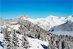 Europe, France, Haute Savoie, Rhone Alps, Chamonix Valley, Les Houches ski resort