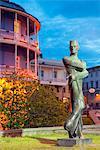 Eurasia, Caucasus region, Georgia, Tbilisi, statue of Georgian architect Shota Kavlashvili