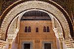 Mosaic walls at the Alhambra Palace, Granada, Andalusia, Spain