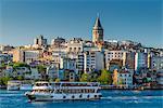 Galata district skyline with Galata Tower, Istanbul, Turkey