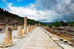 Turkey, Aegean, Selcuk, Ephesus, ancient Roman ruins