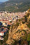 Turkey, Mediterranean region, The Aegean Turquoise coast, Fethiye, Ancient Telmessos, tomb of Amyntas and Ionic temple 350 BC