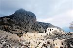 Turkey, Mediterranean Region, Pamphylia, Termessos, Termessian theatre ruins