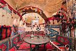 Turkey, Eastern Anatolia, village of Harran, interior of a beehive mud brick house