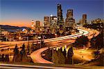 USA, West Coast, Pacific Northwest, Washington, Seattle Skyline