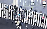 Busy pedestrian crossing in Central Tokyo