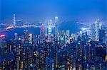 Hong Kong from the Peak, Hong Kong, China, Asia