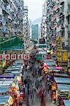 Street Market in Kowloon, Hong Kong, China, Asia
