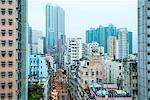 Street scene in Kowloon, Hong Kong, China, Asia