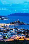 The 15th century Bodrum castle and marina, Bodrum, Aegean coast, Mediterranean Region, Anatolia, Turkey, Asia Minor, Eurasia
