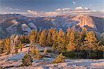 Half Dome and Yosemite Valley from Sentinel Dome, Yosemite National Park, UNESCO World Heritage Site, California, United States of America, North America