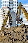 Heavy Machinery at Regent Park Demolition, Toronto, Ontario, Canada