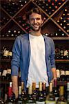 Bartender in wine bar, portrait