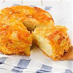 Upside Down Layered Potato Bake (Cake), square