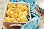 Roasted Cauliflower in a Roasting Pan