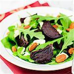 Roast Beetroot, Almond, Feta and Rocket Salad, square