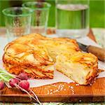 Summer Upside Down Layered Potato Bake (Cake), square