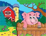 Pig theme image 6 - eps10 vector illustration.