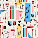Beautiful vector illustration pattern building tools for the repair of premises