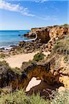 Arch and Rock Formations at Praia de Arrifes, Albufeira, Algarve, Portugal