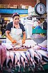 Fish stall, San Camilo Market (Mercado San Camilo), Arequipa, Peru, South America