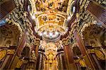 Beautiful church in Melk Abbey, UNESCO World Heritage Site, Wachau, Austria, Europe