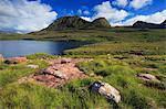 Loch Bad a' Ghaill, Sutherland, Scotland, United Kingdom, Europe