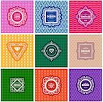 Monogram  luxury logo template with flourishes calligraphic elegant ornament background. Luxury elegant design for cafe, restaurant, boutique, hotel, shop, store, heraldic, jewelry, fashion