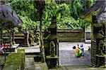 People praying, Pura Luhur Batukaru Temple, Gunung Batukaru, Bali, Indonesia