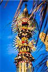 Close-up of penjor offering at Penglipuran, traditional Balinese village, Bangli, Bali, Indonesia