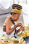 Hindu priest at a Balinese ceremony in Junjungan, near Ubud, Bali, Indonesia