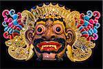 Balinese mask of Rahwana at the Setiadarma House of Masks and Puppets, Mas, Ubud, Bali, Indonesia