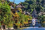 Street in Penglipuran a traditional Balinese Village, Bangli, Bali, Indonesia