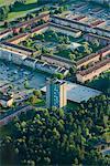 Aerial vie of houses