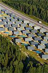 Solar farm near road