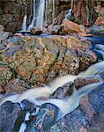 Lichen-covered rocks at Black Brook Falls