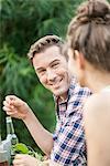 Man Smiling At Woman