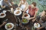Family Dinner At The Garden