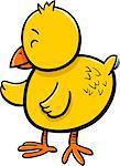 Cartoon Illustration of Little Chick Bird Animal Character