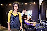 Portrait of hairstylist in hair salon