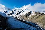 Gletscher glacier above Grindelwald, Interlaken, Bernese Oberland, Switzerland, Europe