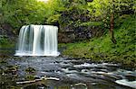 Sgwd Ddwli Uchaf waterfall, Ystradfellte, Brecon Beacons National Park, Powys, Wales, United Kingdom, Europe