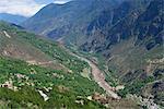 Valley of beauty, Watch tower of Tibetan folk house, Jiaju village (the most beautiful village of China), Danba (Rongzhag Zong), Garzê Tibetan Autonomous Prefecture, Sichuan Province, PRC
