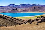 Perito Moreno National Park (Parque Nacional Perito Moreno) high altitude lake, Santa Cruz Province, Argentinian Patagonia, Argentina, South America