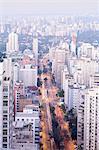 The Sao Paulo skyline from Jardins, Sao Paulo, Brazil, South America