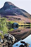Cregannen Lake, Dolgellau, Gwynedd, North Wales, United Kingdom, Europe