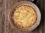 close up of rustic swiss potato rosti