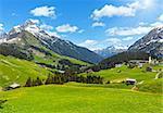 Summer mountain view to Biberkopf mount (Warth, Vorarlberg, Austria).