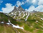 Summer Widderstein mountain view (Warth, Vorarlberg, Austria).